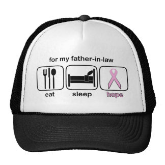 Father-in-law Eat Sleep Hope - Breast Cancer Trucker Hat