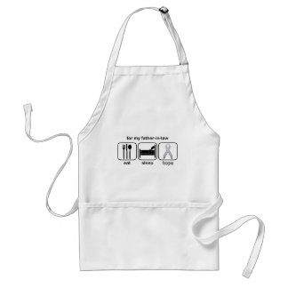 Father-in-law Eat Sleep Hope - Lung Cancer Adult Apron