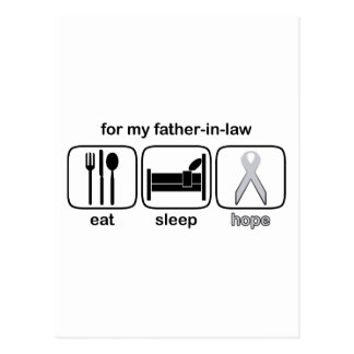 Father-in-law Eat Sleep Hope - Lung Cancer Postcard