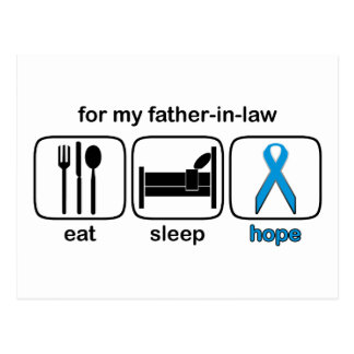 Father-in-law Eat Sleep Hope - Lymphoma Postcard