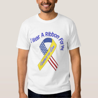 Father-in-Law - I Wear A Ribbon Military Patriotic T-shirt