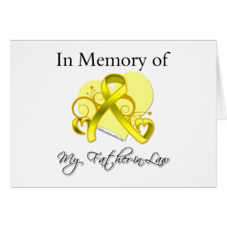 Father-in-Law - In Memory of Military Tribute Card