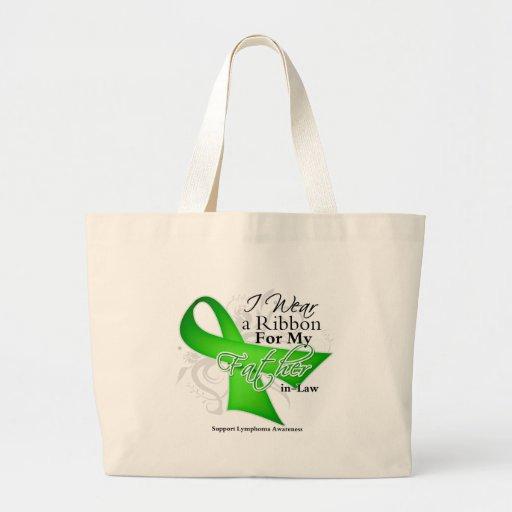 Father-in-Law Lime Green Ribbon - Lymphoma Jumbo Tote Bag