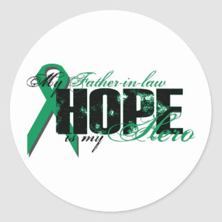 Father-in-law My Hero - Kidney Cancer Hope Classic Round Sticker