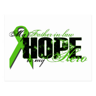Father-in-law My Hero - Lymphoma Hope Postcard