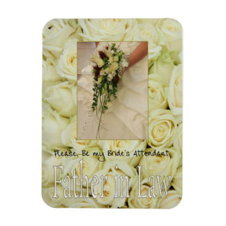 Father in Law  Please be bride's attendant Rectangular Photo Magnet