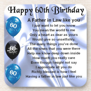 father in law poem 60th birthday coaster