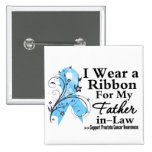 Father-in-Law Prostate Cancer Ribbon 2 Inch Square Button