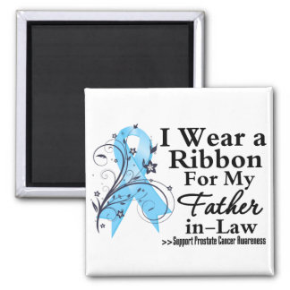 Father-in-Law Prostate Cancer Ribbon Refrigerator Magnet