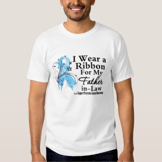 Father-in-Law Prostate Cancer Ribbon Tee Shirt