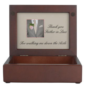 Father in Law Thanks for Walking me down Aisle Memory Box
