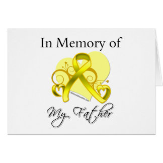 Father - In Memory of Military Tribute Greeting Cards