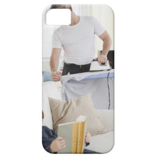 Father ironing iPhone SE/5/5s case