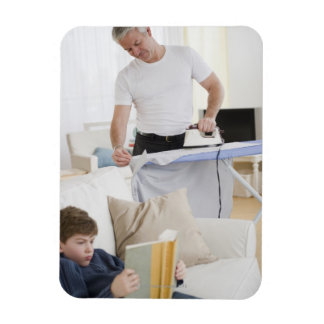 Father ironing magnet