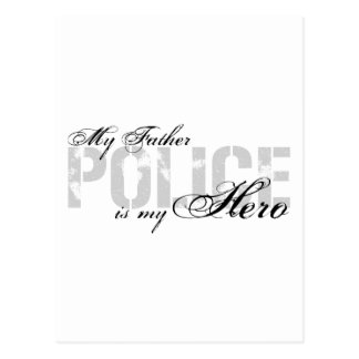 Father Is My Hero - POLICE Postcard