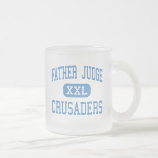 Father Judge - Crusaders - High - Philadelphia Frosted Glass Coffee Mug