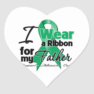 Father - Liver Cancer Ribbon.png Heart Sticker