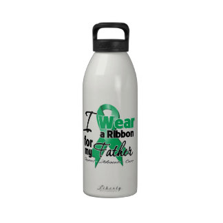 Father - Liver Cancer Ribbon.png Reusable Water Bottles