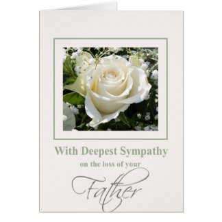 Father loss Rose sympathy Card