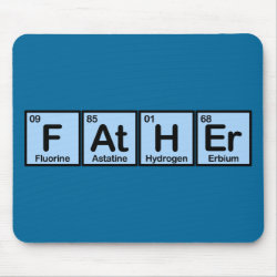 Mousepad with Father Made of Elements design