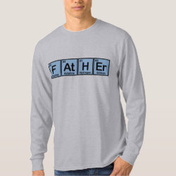 Men's Basic Long Sleeve T-Shirt with Father Made of Elements design