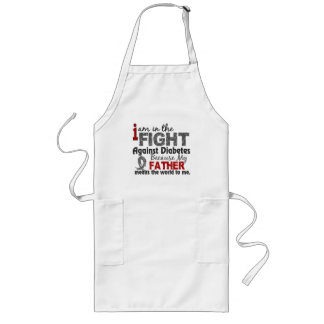 Father Means World To Me Diabetes Long Apron