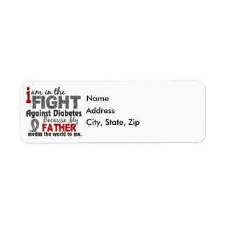 Father Means World To Me Diabetes Label
