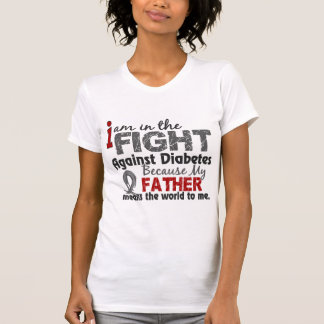 Father Means World To Me Diabetes Tee Shirt