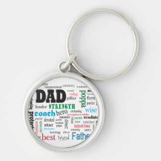 Father Mentor Coach Word Cloud Keychain