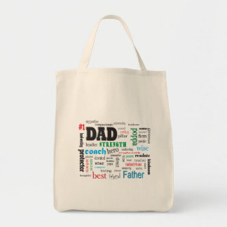 Father Mentor Coach Word Cloud Tote Bag