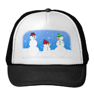 Father, Mother and Baby- Snowman Family Trucker Hat