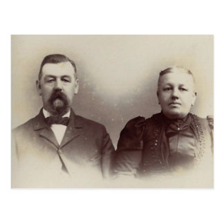 Father & Mother Lahr, York County, PA circa 1880 Postcard