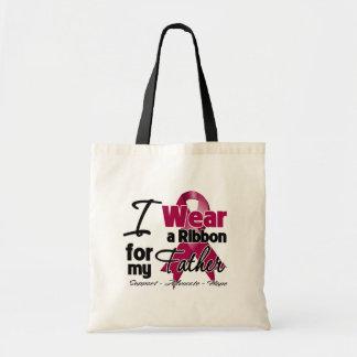Father - Multiple Myeloma Ribbon Canvas Bag