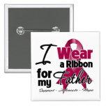 Father - Multiple Myeloma Ribbon Pinback Button