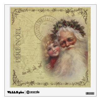 Father Noel - Santa's World Route Map Wall Decal
