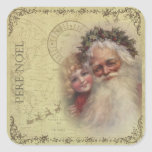 "Father Noel Vintage Santa Sticker<br><div class=""desc"">Father Noel Vintage Santa Sticker</div>"