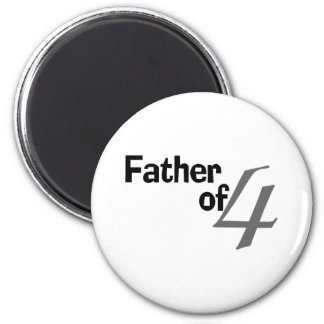 Father Of 4 2 Inch Round Magnet