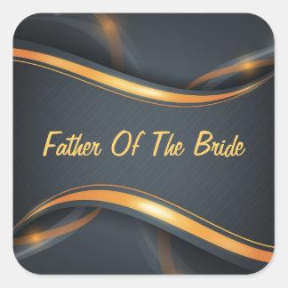 Father Of Bride (blk/gld) Sticker