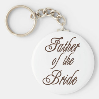 Father of Bride Classy Browns Keychain