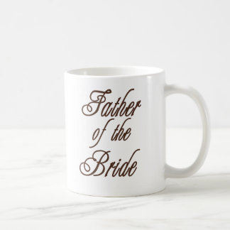 Father of Bride Classy Browns Classic White Coffee Mug