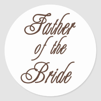 Father of Bride Classy Browns Sticker