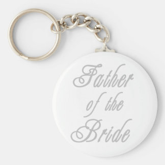 Father of Bride Classy Grays Keychain