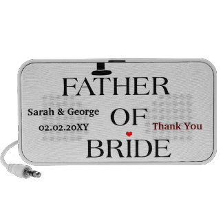 Father of Bride wedding attendant Speakers