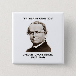 Father Of Genetics Gregor Johann Mendel Button