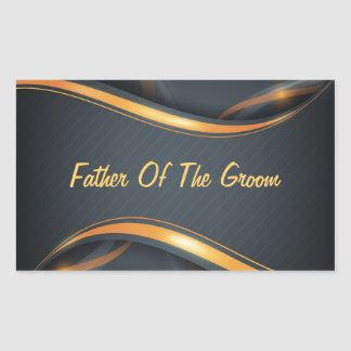 Father Of Groom Rectangular Sticker