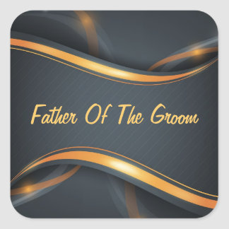 Father Of Groom Square Sticker