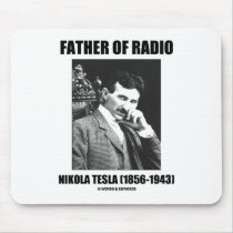 Father Of Radio Nikola Tesla (1856-1943) Mouse Pads