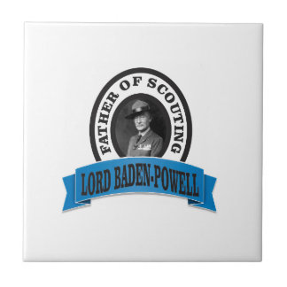 father of scouting lord baden powell tile