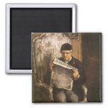 Father Of The Artist Reading by Cezanne, Fine Art Magnet