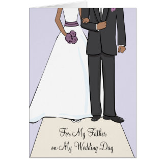 Father of the Bride African American Thank You Card